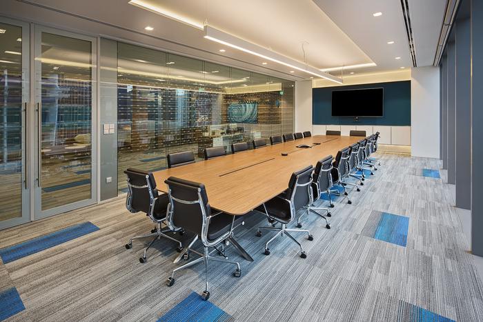 arsitek-ruang-kantor-dengan-meja-meeting-panjang-finishing-hpl-dan-drop-ceiling